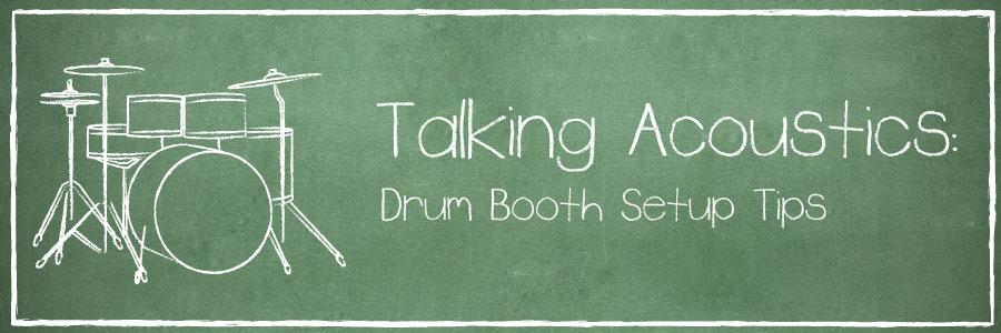 drum booth setup banner