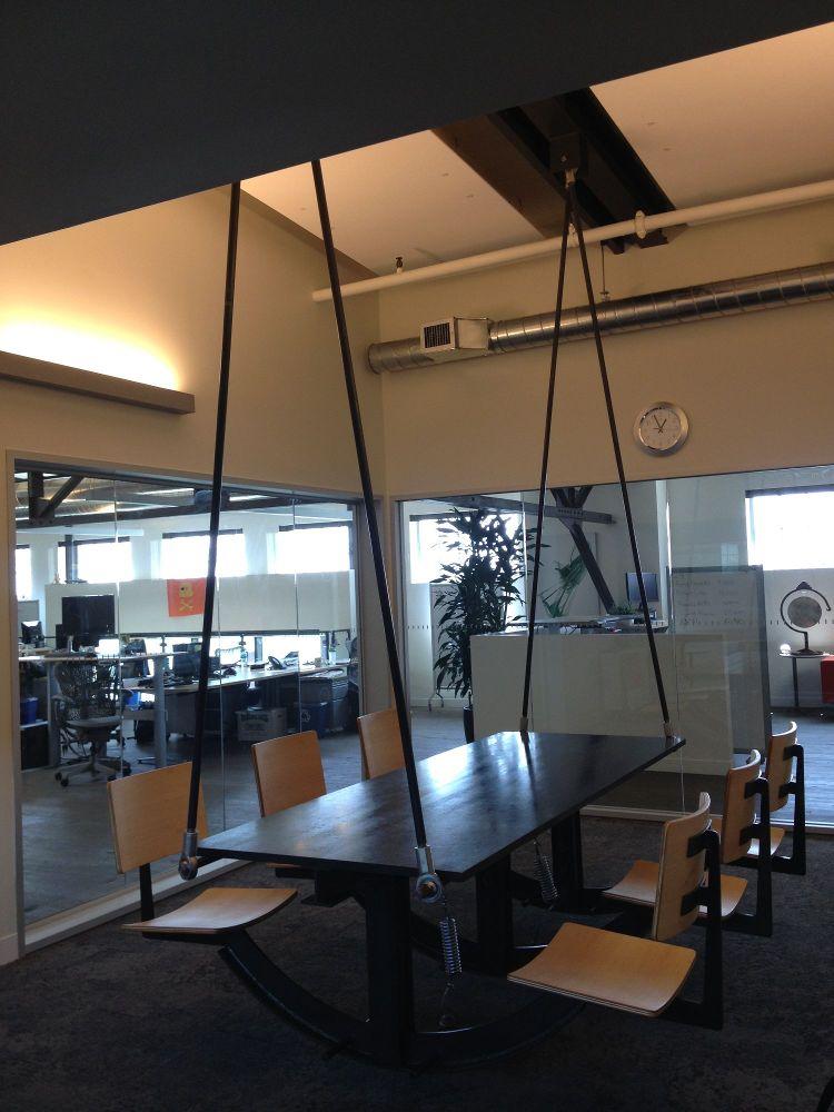 Swinging desk